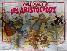 LES ARISTOCHATS Affiche Cinéma GEANTE 4x3 WIDE Movie Poster DISNEY