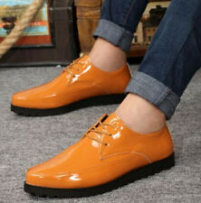 Mens Fashion Dress Formal Lace Up Patent Leather Pointed Toe Dressing Shoes Size