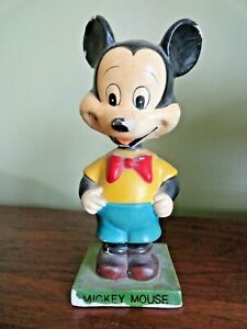 Vintage MICKEY MOUSE BOBBLE HEAD - Walt Disney Productions - Very Old