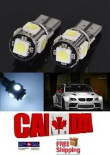 2x 5SMD White 6000k T10 194 168 LED Error Free Canbus Map Dome Light Bulb Plate