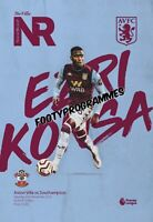 ASTON VILLA v SOUTHAMPTON 19/20 Premier League Programme. Free UK Post