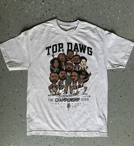 Top Dawg TDE The Championship Tour T Shirt Size Large Gray Graphic Cotton