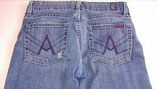 "7 For All Mankind A Pocket Capri Jeans Womens SZ 27/28 Purple Stitch 29"" Waist"