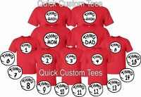 MOM, DAD teacher 1, 2 matching famil cute T-Shirts
