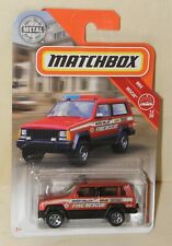 Matchbox JEEP CHEROKEE POLICE Fire Rescue Feuerwehr MBX Rescue 2019  51 LONGCARD