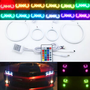 IR Cotton RGB halo ring for Chevy Camaro 10-15 Headlight Fog light LED angel eye