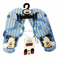 1 Pair Disney Mickey Mouse flip flops beach sandals shoe for Boys blue all sizes