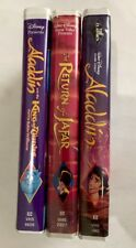 Walt Disney Aladdin I, Ii, Iii Vhs 3 Piece Set Collection Vintage Classic
