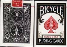 Rare Ohio-Made Bicycle 808 BLACK Rider Back Playing Cards, Decks! Top Quality!