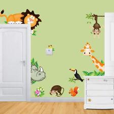Jungle Wild Animal Mural Vinyl Wall Decals Sticker Kids Baby Nursery Room Decor