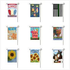 Decorative Party Yard House Banner Happy Summer Days Double Sided Garden Flags