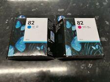 Hp 82 Cyan and Magenta Ink Cartridges exp. 2021
