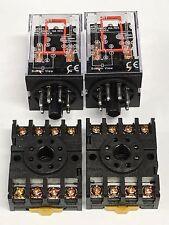 Relay OMRON MK2P-I MK2P AC 220V  8 Pin 10A 250VAC 2pcs w/socket