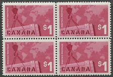 CANADA #411 MINT BLOCK OF 4 VF NH