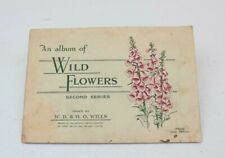 Wills Cigarette Card Album WILD FLOWERS Second Series Complete A