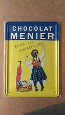 Metal Plate Clouet 15x21 cm New Chocolat Menier - 29007
