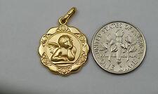 10K gold guardian angel charm / pendant
