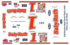 #1 Jeff Gordon Baby Ruth Ford 1992 1/25th - 1/24th Scale Waterslide Decals