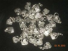 Wholesale Lot # 393 Pewter Cat in Basket Charm Pendant Earring Key Chain Crafts