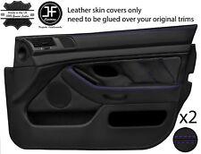 Purple Stitch 2X Front Full porte carte en cuir couvre Fits BMW 5 Series E39 95-03