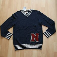 NEU Nudie Jeans Knitted Pullover Pulli Hampus Team Sweater Navy M