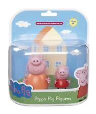 Genuine Peppa Pig MUMMY & PEPPA Figures - NEW