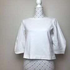 METALICUS Size S Top Womens White Stretch Casual