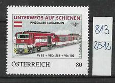 """Österreich PM personalisierte Marke Eisenbahn """"Pinzgauer Lokalbahn"""" 8132512 **"""