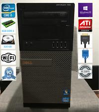 Dell OptiPlex 790 Fast Computer Intel i5 Quad Cores 4GB ATI Win10 Pro 320GB WIFI