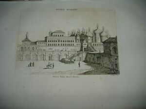 1836 BEAUTIFUL ENGRAVING ANCIENT PALACE IN THE KREMLIN MOSCOW RUSSIAN MOSCOU