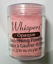 Whispers Opaque Pink  Embossing Powder  1 Fl Ounce Net  NIP