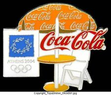 OLYMPIC PIN ATHENS 2004 COCA COLA COKE SPONSOR UMBRELLA