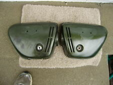 Honda CB350 Candy Baccus Olive Sidecover pair
