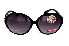 Foster Grant FG15 Women's Oval Butterfly Style Sunglasses Black Plastic Frame