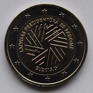 LATVIA  - 2 Euro commemorative coin 2015 Presidency of the Council of the EU