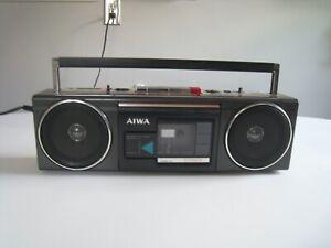 Vintage Aiwa # CS-210U FM MT Shortwave Cassette Portable Stereo Radio Boombox