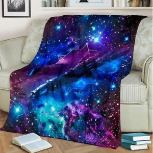 Twin Size Fitted Sheet,Blue Galaxies in Night Sky Celestial Image Stars Fog Magical Soft Decorative Fabric Bedding All-Round Elastic Pocket,for Kids /& Adults,Dark Blue Light Blue White