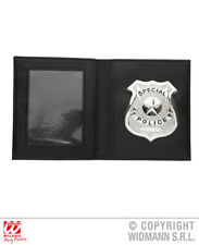 Police Badge In Wallet Cops And Robbers 999 Fancy Dress Costume Accessory