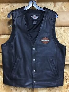 Harley Davidson Leather vest men's large *read description*