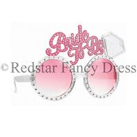 BRIDE TO BE GLASSES HEN PARTY FANCY DRESS ACCESSORY LADIES PINK NOVELTIES
