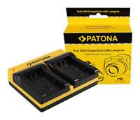 Caricabatteria Synchron LCD USB Patona per Panasonic HC-V130K,HC-V160,HC-V180