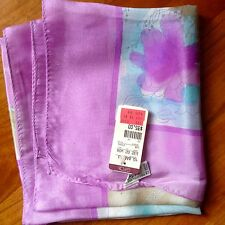 """VERA Neumann vintage NWT silk square Scarf 28""""x28"""" made in Japan lilac floral"""