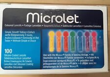 MICROLET LANCETS STERILE X 100 EXP 07/2022