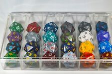 24x Speckled 34mm Chessex D20 Dice Complete Set with Case Large Size Collection