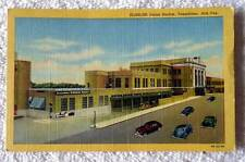 POSTCARD RAILROAD TRAIN STATION UNION DEPOT TEXARKANA ARK TEX #NV6