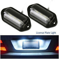 2x Universal 6LED License Number Plate Light for Car Truck SUV Trailer Lorry Van