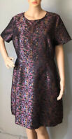 Sugarhill Boutique Womens Short Sleeved Dress UK Size 16 Pink Black Mix Exc Con