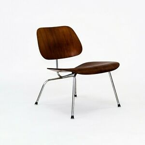 1954 Herman Miller Eames LCM Walnut Lounge Chair with Metal Legs w/ Boot Glides