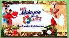 STAMP BOOKLET MINT2007 MSB VISIT MALAYSIA 2007