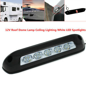 12V Waterproof White LED Spotlights Car RV Boat Roof Dome Lamp Ceiling Lighting